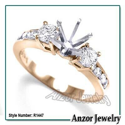 14k Solid Rose Gold Diamond Engagement Ring #R1447