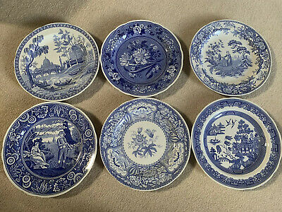 Spode Blue Room Collection Six Dinner Plates Brand New & Boxed