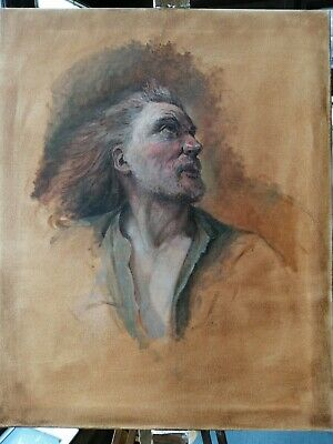 "OIL ON CANVAS PORTRAIT PAINTING OF A MAN Antique style 20""x16"""
