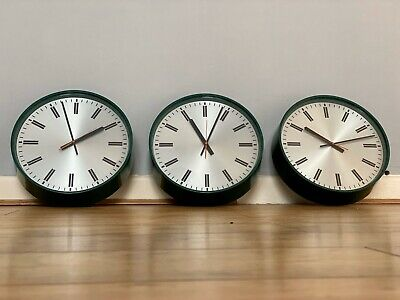 Smiths Industrial Factory Wall Clocks X 3