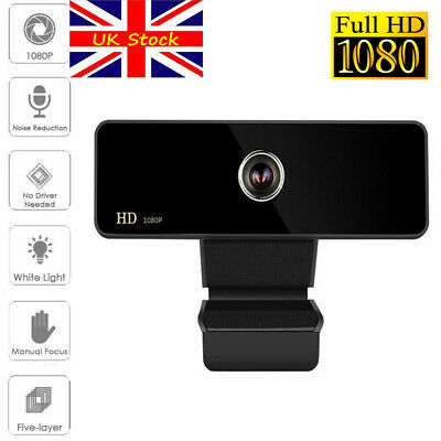 UK Rotatable 2.0 HD 1080P Webcam Laptop PC Computer Digital USB Camera Video