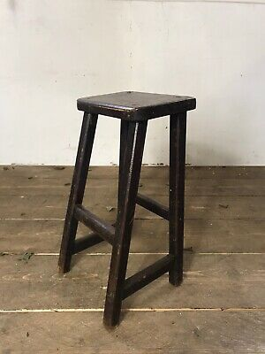 Antique Early 20th Century Industrial Factory Work Stool C.1920