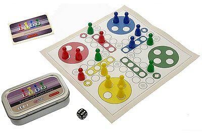 Ludo. Traditional Pocket game, Contains game mat, playing pieces and rules