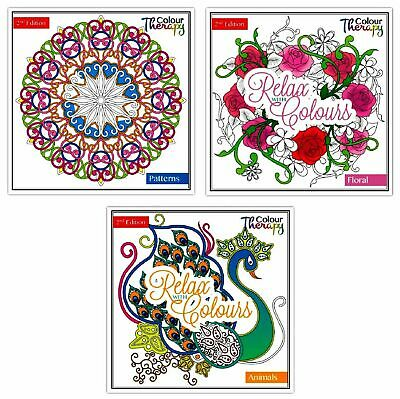Colour Therapy Adult Colouring Book Therapy Stress Relaxation Choice of 3 (487)
