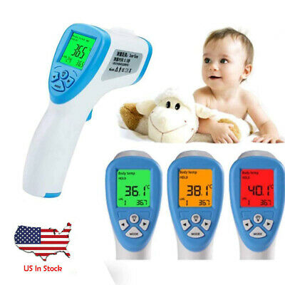 Infrared Digital Forehead Fever Thermometer Non-Contact Baby / Adult Body