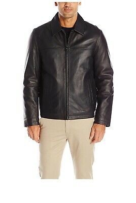 Tommy Hilfiger Men's Smooth Lamb Leather Laydown Collar Open Bottom Jack X-Large