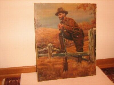 Vintage Oil Painting on Board for Framing