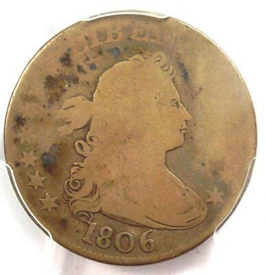 1806 Draped Bust Quarter 25C - PCGS AG3 - Rare Early Certified Coin!