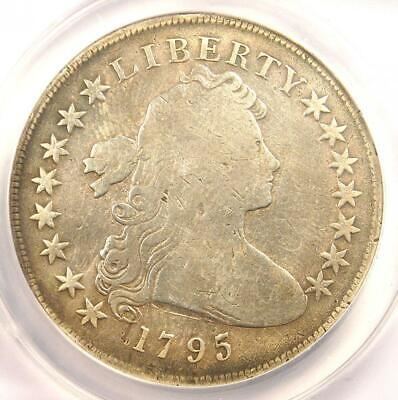 1795 Draped Bust Silver Dollar ($1 Coin, Small Eagle) - ANACS VG8 Details!