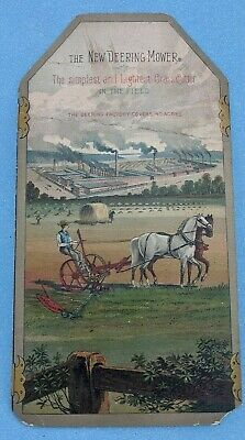 Antique New Deering Mower Agriculture Advertising Trade Card
