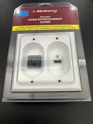 Mulberry 40566 Recessed HDMI  Home Entertainment Cover