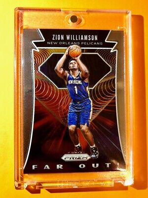 Zion Williamson PANINI PRIZM HOT ROOKIE 2019-20 FAR OUT INSERT RC #24 - Mint!
