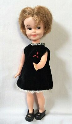 "Vntg Deluxe Reading PENNY BRITE 8"" Doll w/Velvet Princess Dress & Shoes+ ~SWEET!"