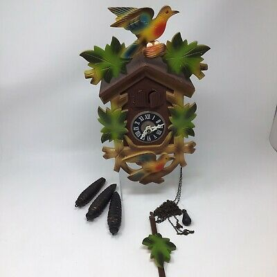 Vintage West Germany - Black Forest Cuckoo Clock - PARTS/REPAIR