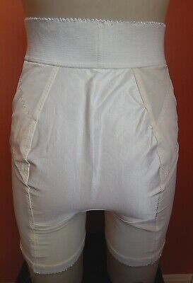 Vintage Gossard HIGH WAIST long leg panty girdle , w/ zipper,Satin panel, sz 2X