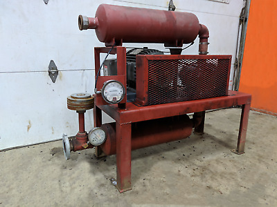 Positive Displacement Blower Package 7.5HP Toshiba Motor w Roots Blower 33 URAI