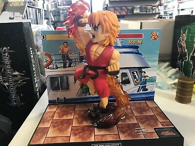Street Fighter The New Challenger Ken Figure and Diorama