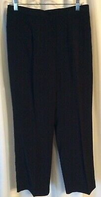 Kasper Womens Black Lined Dress Pants 8 Petite Flat Front Pockets NEW msrp $78
