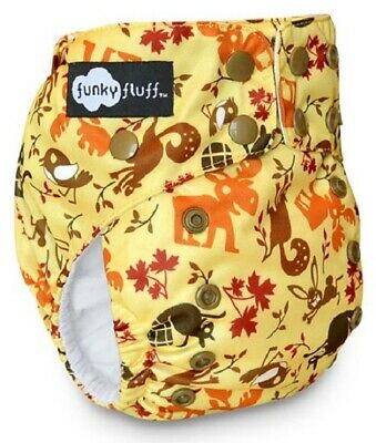 New! Funky Fluff - One Size Bamboo Cloth Diaper - Funk Eh Forest