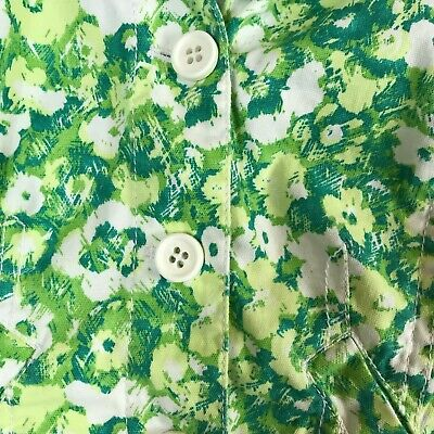 Women's Liz Claiborne Green & White Floral Dress Blazer Jacket Size Petite 6