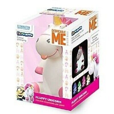 Despicable Me Illumi-Mates Fluffy The Unicorn Colour Changing Night Light #AZG