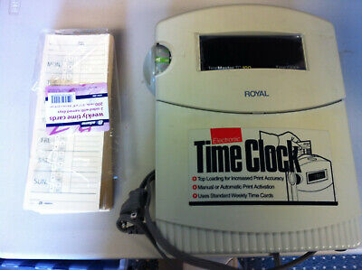 Working Royal Eletronic Time Clock TC100 With 122+ Weekly Time Cards