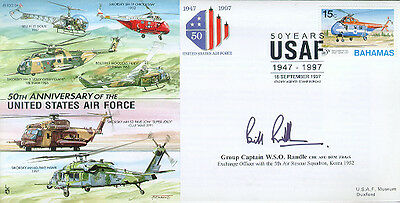 CC34c JSCC USAF cover signed Korean War RAF exchange pilot