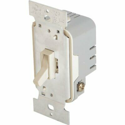Legrand Trademaster Toggle 600 Watt Single Pole Dimmer, Ivory