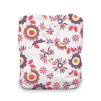 Thirsties Reusable Cloth Diaper - One Size All in One - Snap - Alice Brights