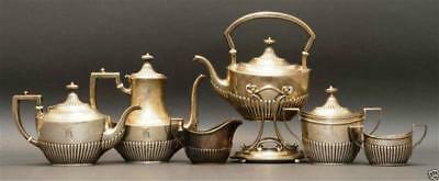 A033 Six pieces whiting sterling silver tea service early 20th century