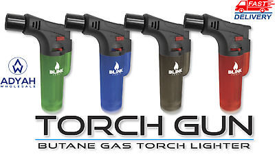 4 Pack Blink Butane Torch Lighter Gun Windproof Adjustable Jet Flame Refillable