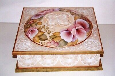 "Gail Anderson tole painting pattern ""Fancy Lace & Pansies"""