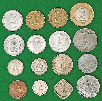 INDIA, Modern Republic:-16 different post independence coins.1p-10 Rupees AP7865