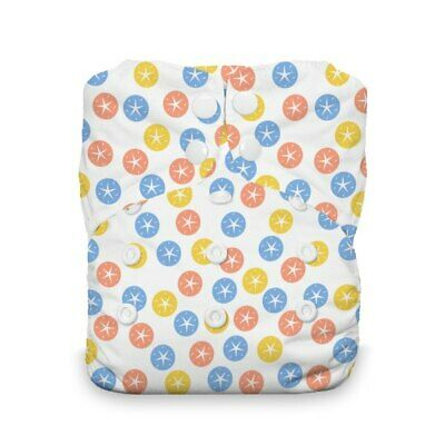 Thirsties Reusable Cloth Diaper - One Size All in One - Snap Close - Sand Dollar