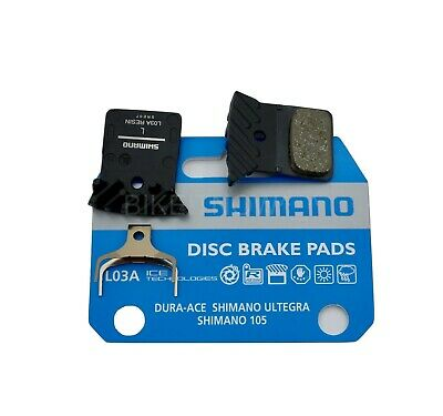 4 Pair Shimano L03A Brake Pads with Fin for Flat Mount Road Disc Caliper UP L02A