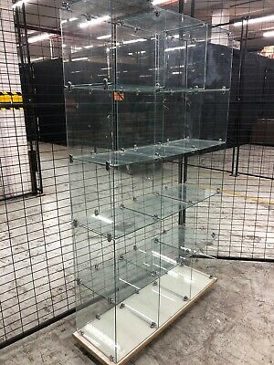 Ex retail glass display cubes display cabinets x15