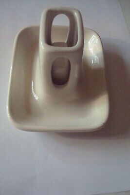 Vintage White Hall Ashtray with Matchbox Holder.