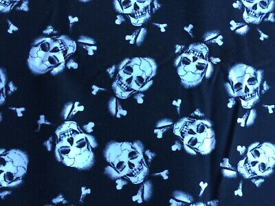 Quilting Patchwork Sewing Fabric  - Skulls and Bones- 1 metre