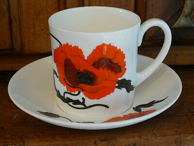 Wedgwood Cornpoppy By Susie Cooper Cup and Saucer