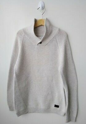 BOYS ZARA Beige/Oatmeal Thick Knit Cotton/Polyester Jumper - Size 7