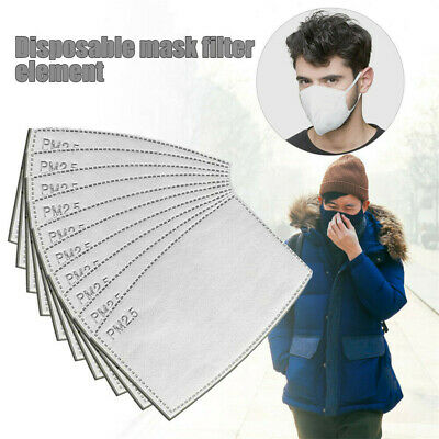 10/20/30/50PCS Face Cover Filter Replacement Activated Carbon Filters Health