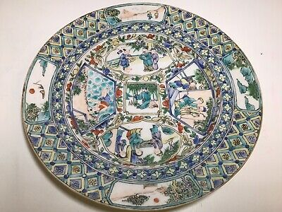Antique Chinese Hand Decorated Plate. Fresh From Old Estate Collection