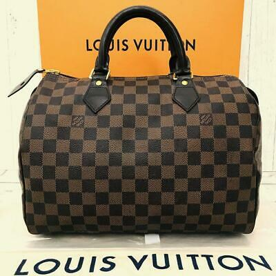 Louis Vuitton Speedy 30 Damier Ebene Bag Handbag - Free Shipping