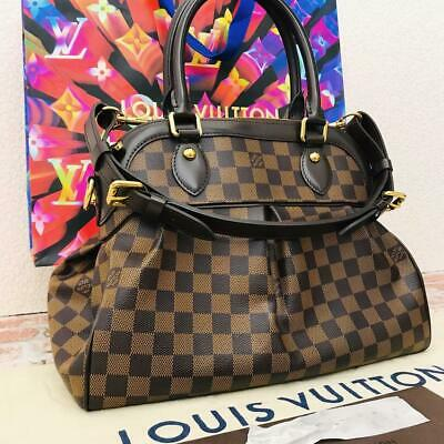 Louis Vuitton Trevi Pm Damier Ebene Shoulder Bag Handbag - Free Shipping