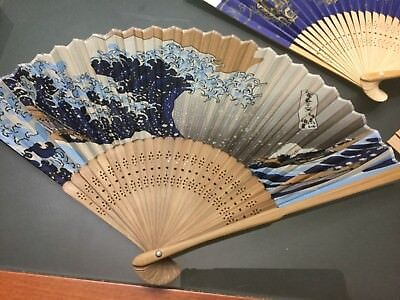 Vintage ladies folding hand fan hardly used if at all Unwanted gift undamaged