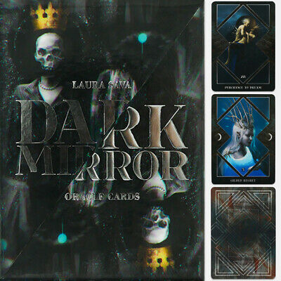 32pcs Dark Mirror Oracle Cards Playing Board Game Oracle Cards Gift 10*7cm