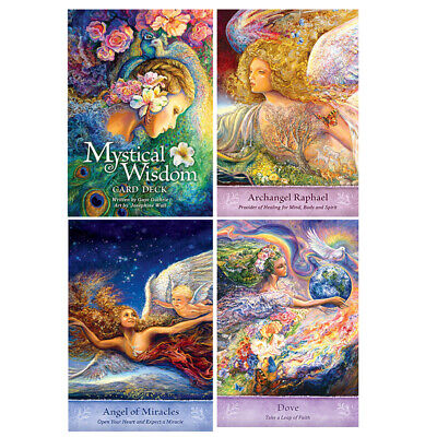 46pcs Mystical Wisdom Oracle Card Playing Board Game Oracle Card Gift 10*7cm