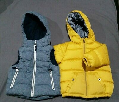 ZARA Toddler Hooded Puffer Jacket AND H&M puffer vest coat. Size 2 18-24 months