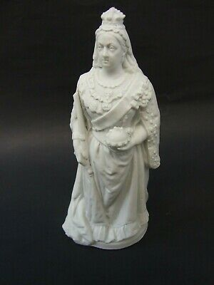Antique-Rare-Superb White Porcelain Bust Statue-Queen Victoria 1900's Rare