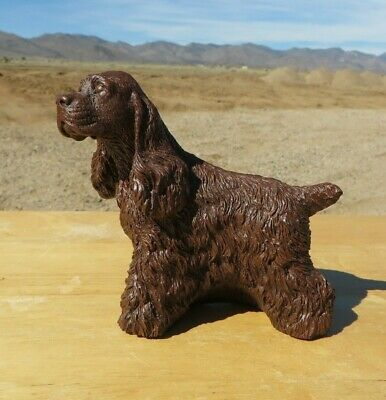 Solid Brown Standing Cocker Spaniel Figurine #1, no tag